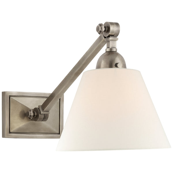 Visual Comfort AH 2325AN-L Alexa Hampton Casual Jane Single Library Wall Light in Antique Nickel