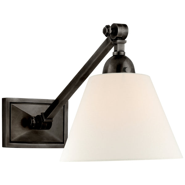 Visual Comfort AH 2325GM-L Alexa Hampton Casual Jane Single Library Wall Light in Gun Metal