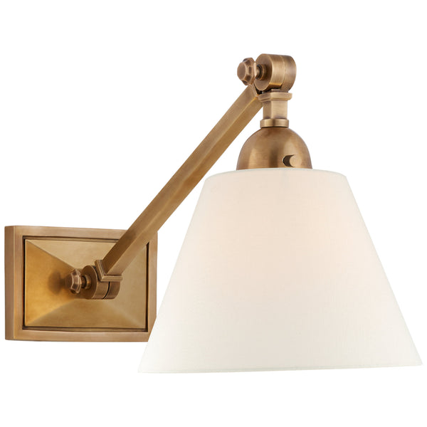 Visual Comfort AH 2325HAB-L Alexa Hampton Casual Jane Single Library Wall Light in Hand-Rubbed Antique Brass