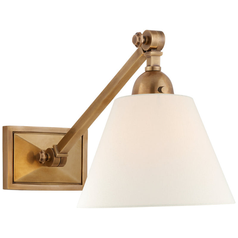 Visual Comfort AH 2325HAB-L Alexa Hampton Jane Single Library Wall Light in Hand-Rubbed Antique Brass