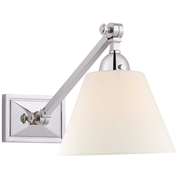 Visual Comfort AH 2325PN-L Alexa Hampton Casual Jane Single Library Wall Light in Polished Nickel