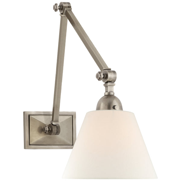 Visual Comfort AH 2330AN-L Alexa Hampton Casual Jane Double Library Wall Light in Antique Nickel