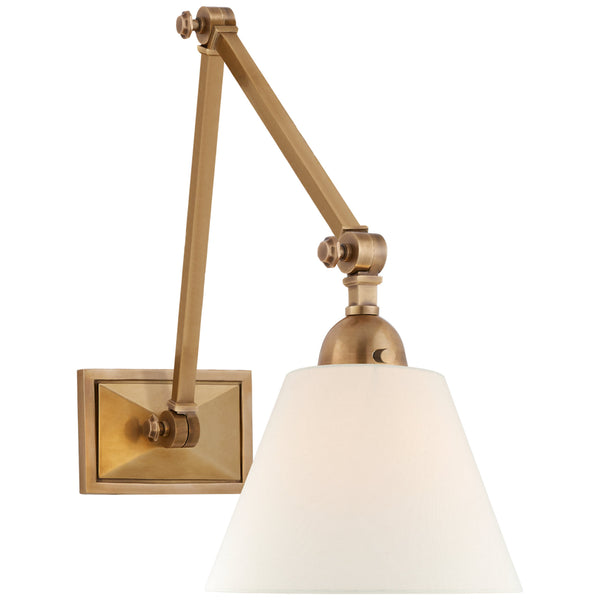 Visual Comfort AH 2330HAB-L Alexa Hampton Casual Jane Double Library Wall Light in Hand-Rubbed Antique Brass