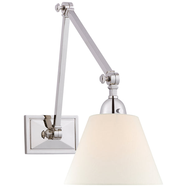 Visual Comfort AH 2330PN-L Alexa Hampton Casual Jane Double Library Wall Light in Polished Nickel