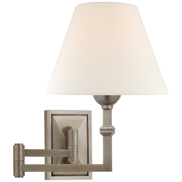 Visual Comfort AH 2337AN-L Alexa Hampton Casual Jane Swing Arm Wall Light in Antique Nickel