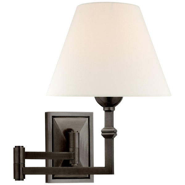 Visual Comfort AH 2337GM-L Alexa Hampton Casual Jane Swing Arm Wall Light in Gun Metal
