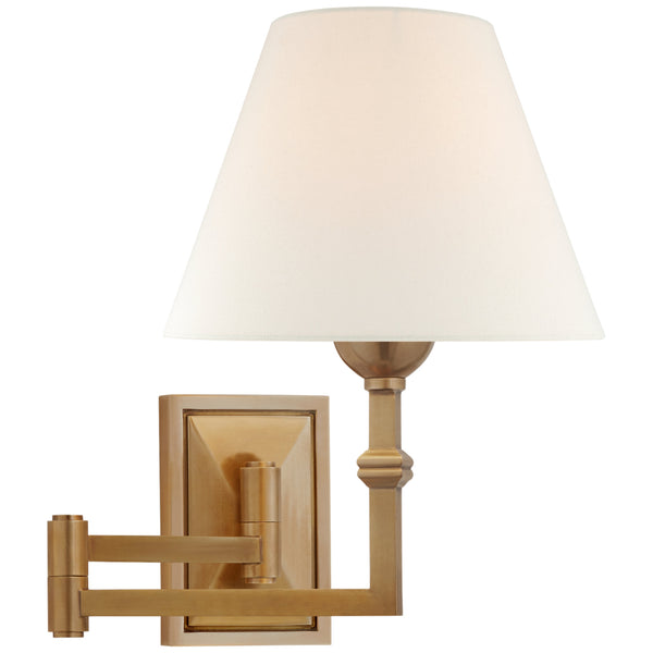 Visual Comfort AH 2337HAB-L Alexa Hampton Casual Jane Swing Arm Wall Light in Hand-Rubbed Antique Brass