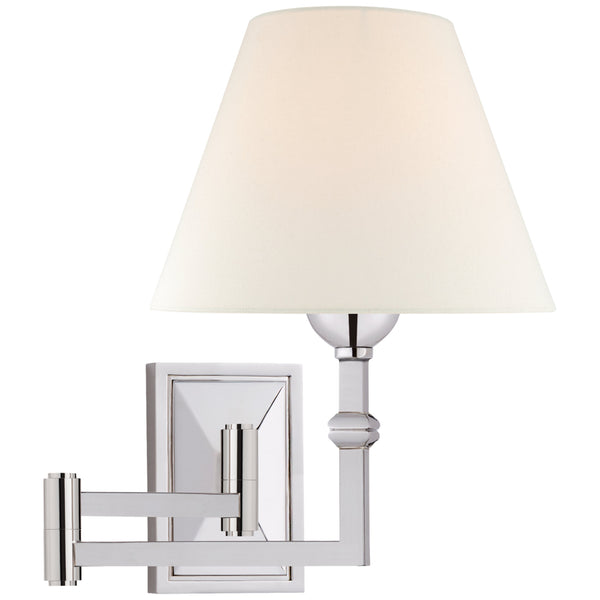 Visual Comfort AH 2337PN-L Alexa Hampton Casual Jane Swing Arm Wall Light in Polished Nickel
