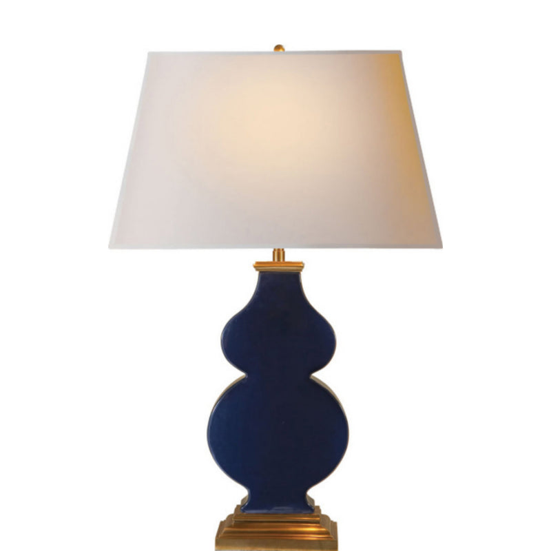 Visual Comfort AH 3063MB-NP Alexa Hampton Anita Table Lamp in Midnight Blue Porcelain