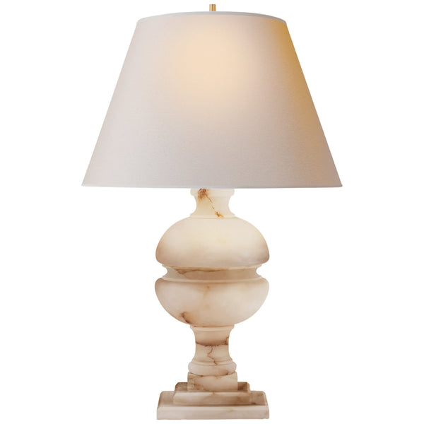 Visual Comfort AH 3100ALB-NP Alexa Hampton Traditional Desmond Table Lamp in Alabaster