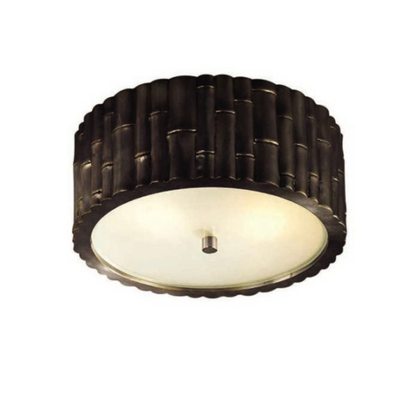 Visual Comfort AH 4004GM-FG Alexa Hampton Casual Frank Small Flush Mount in Gun Metal with Frosted Glass