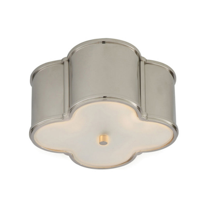 Visual Comfort AH 4014PN-FG Alexa Hampton Basil Small Flush Mount in Polished Nickel