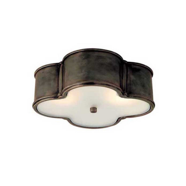 "Visual Comfort AH 4015GM-FG Alexa Hampton Traditional Basil 17"" Flush Mount in Gun Metal"