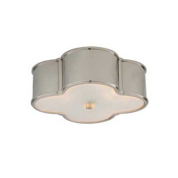 "Visual Comfort AH 4015PN-FG Alexa Hampton Traditional Basil 17"" Flush Mount in Polished Nickel"