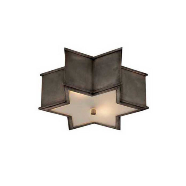 Visual Comfort AH 4016GM-FG Alexa Hampton Modern Sophia Small Flush Mount in Gun Metal with Frosted Glass