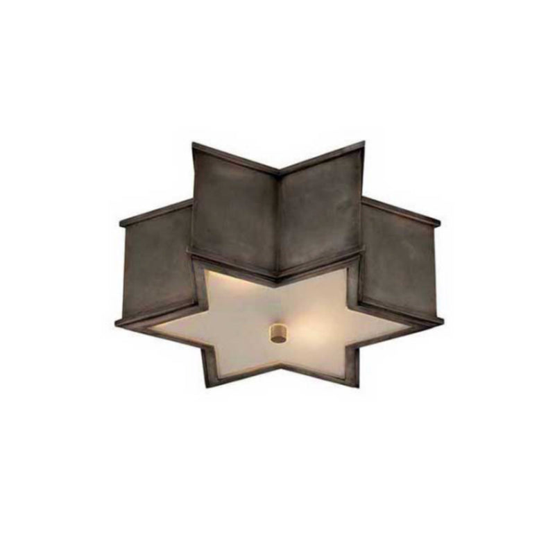 Visual Comfort AH 4016GM-FG Alexa Hampton Sophia Small Flush Mount in Gun Metal