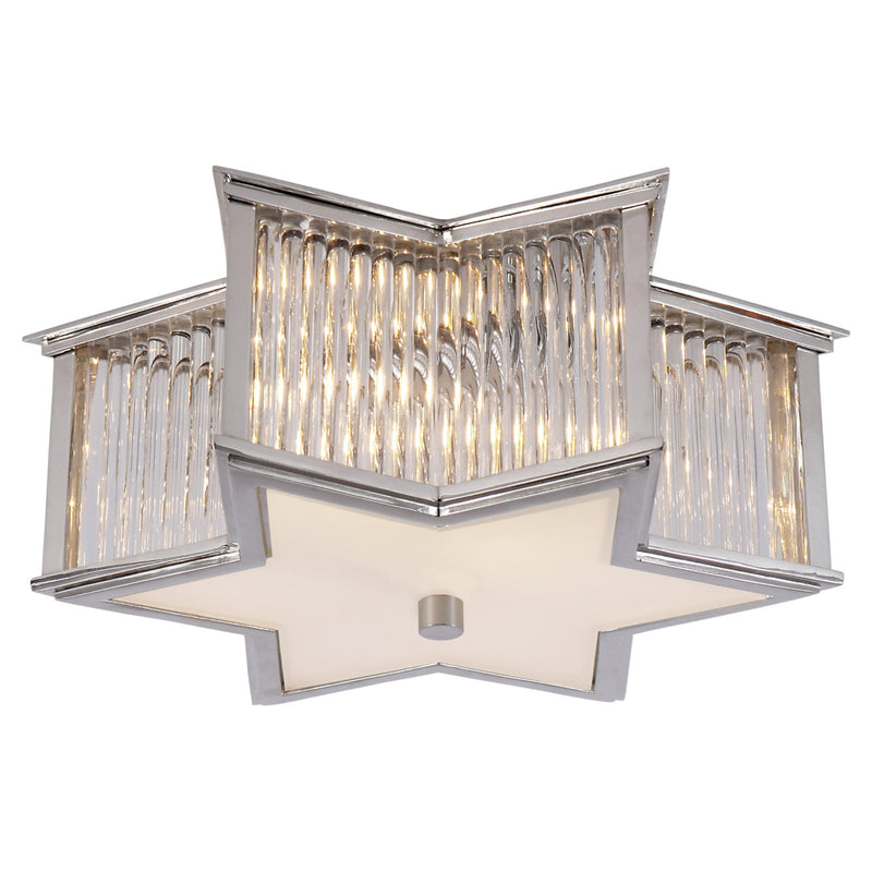 Visual Comfort AH 4016PN/CG-FG Alexa Hampton Sophia Small Flush Mount in Polished Nickel with Clear Glass
