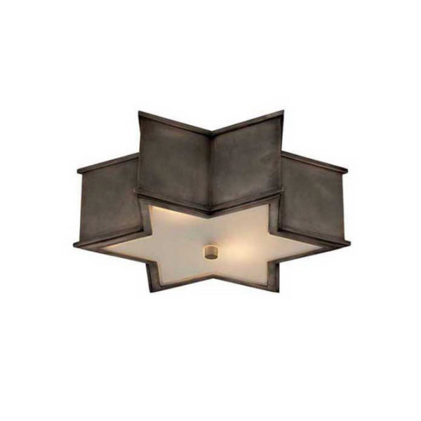 "Visual Comfort AH 4017GM-FG Alexa Hampton Modern Sophia 17"" Flush Mount in Gun Metal"