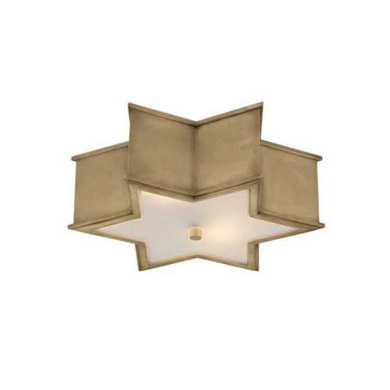 "Visual Comfort AH 4017NB-FG Alexa Hampton Sophia 17"" Flush Mount in Natural Brass"