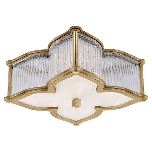 Visual Comfort AH 4018NB/CG-FG Alexa Hampton Lana Small Flush Mount in Natural Brass with Clear Glass