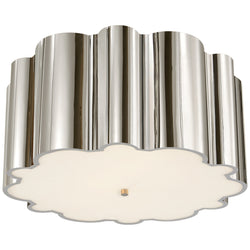Visual Comfort AH 4021PN-FG Alexa Hampton Markos Flush Mount in Polished Nickel