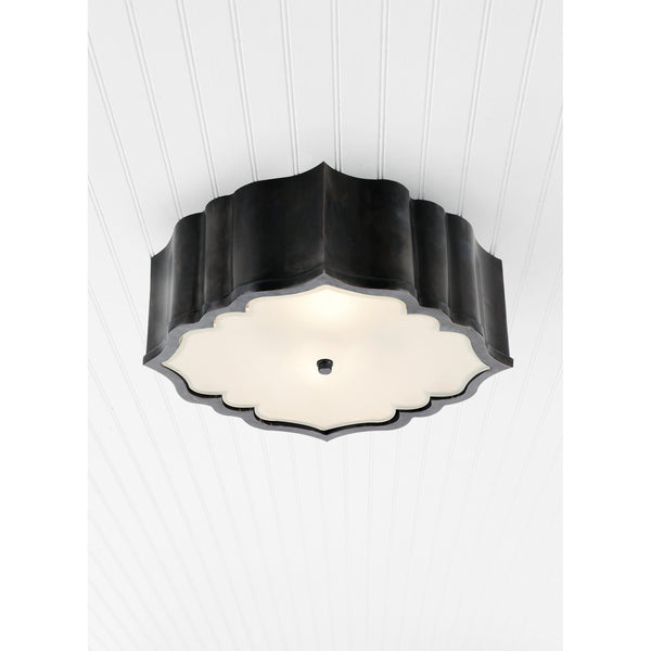 Visual Comfort AH 4025GM-FG Alexa Hampton Traditional Balthazar Flush Mount in Gun Metal
