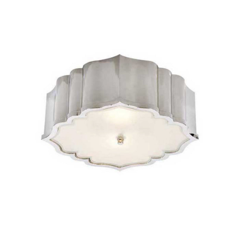 Visual Comfort AH 4025PN-FG Alexa Hampton Balthazar Flush Mount in Polished Nickel