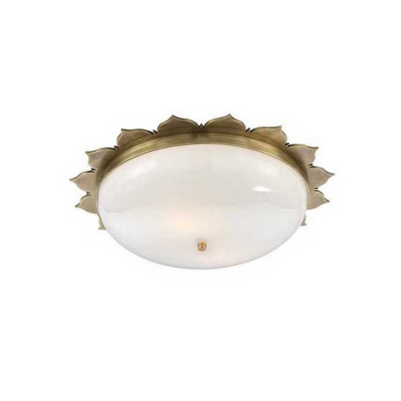 Visual Comfort AH 4030NB-WG Alexa Hampton Rachel Large Flush Mount in Natural Brass