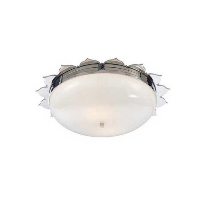 Visual Comfort AH 4030PN-WG Alexa Hampton Rachel Large Flush Mount in Polished Nickel