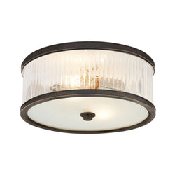 Visual Comfort AH 4201BZ-FG Alexa Hampton Randolph Large Flush Mount in Bronze