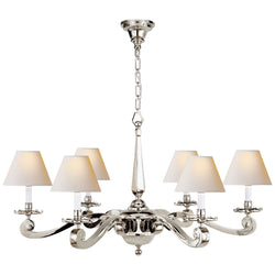 Visual Comfort AH 5010PN-NP Alexa Hampton Myrna Chandelier in Polished Nickel