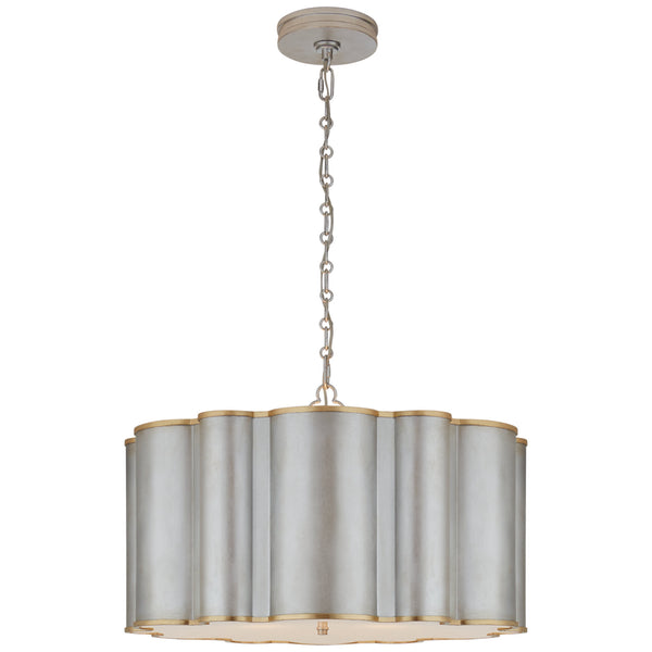 Visual Comfort AH 5215BSL/G-FA Alexa Hampton Markos Large Hanging Shade in Burnished Silver Leaf with Gild