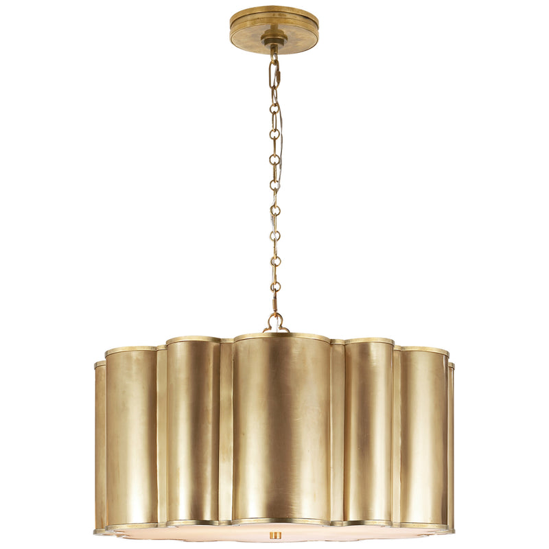 Visual Comfort AH 5215NB Alexa Hampton Markos Large Hanging Shade in Natural Brass
