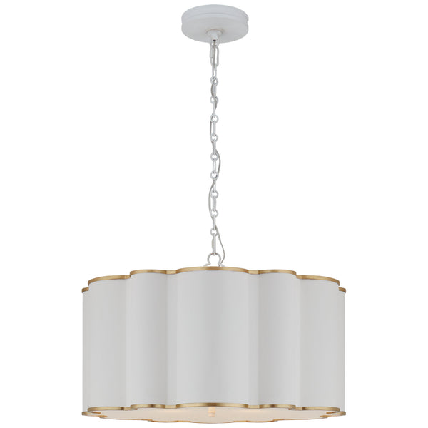 Visual Comfort AH 5215WHT/G-FA Alexa Hampton Markos Large Hanging Shade in White with Gild