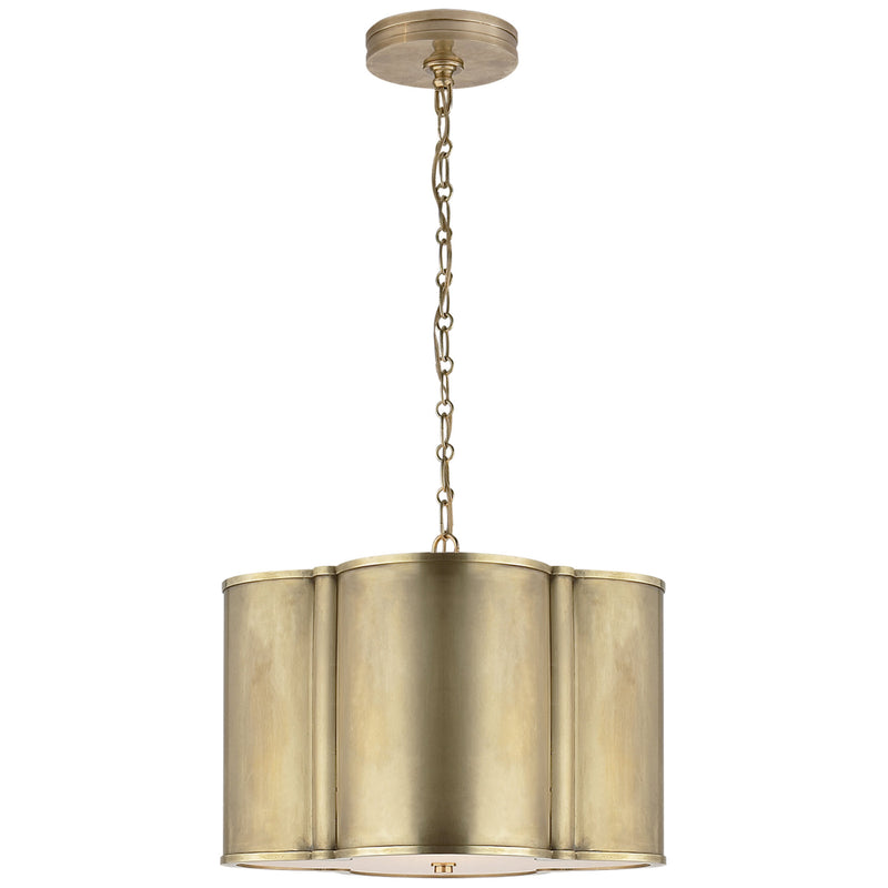 Visual Comfort AH 5216NB Alexa Hampton Basil Small Hanging Shade in Natural Brass