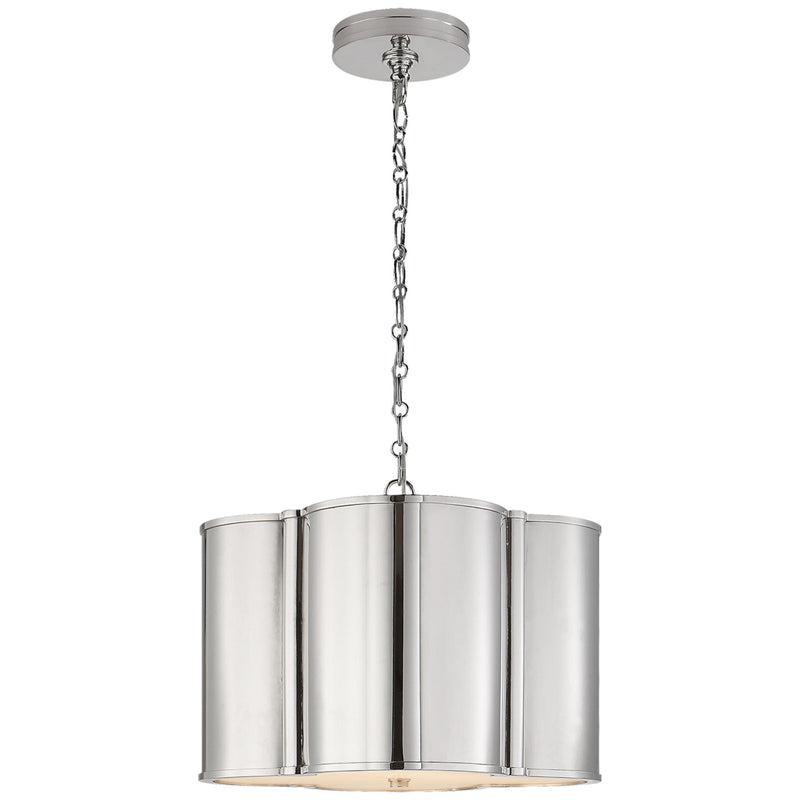 Visual Comfort AH 5216PN Alexa Hampton Basil Small Hanging Shade in Polished Nickel