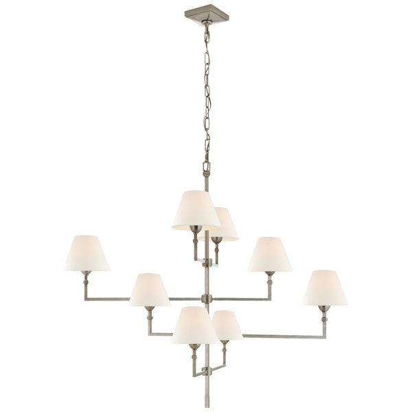 Visual Comfort AH 5310AN-L Alexa Hampton Casual Jane Large Offset Chandelier in Antique Nickel