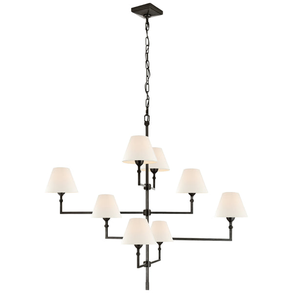 Visual Comfort AH 5310GM-L Alexa Hampton Casual Jane Large Offset Chandelier in Gun Metal