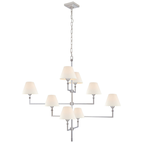 Visual Comfort AH 5310PN-L Alexa Hampton Casual Jane Large Offset Chandelier in Polished Nickel