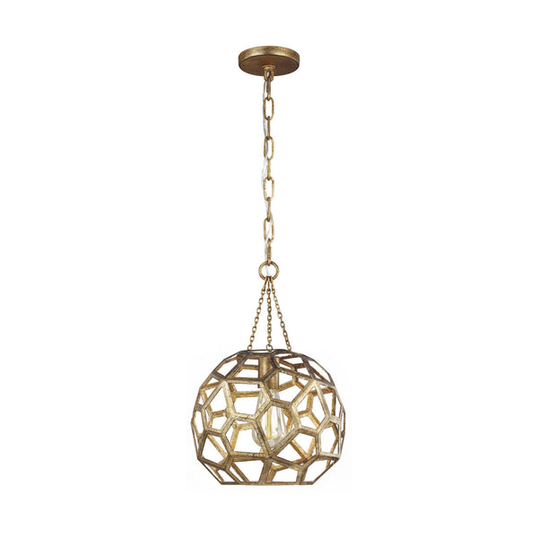 Generation Lighting AP1051ADB Alexa Hampton Feccetta 1 Light Pendant in Antique Gild