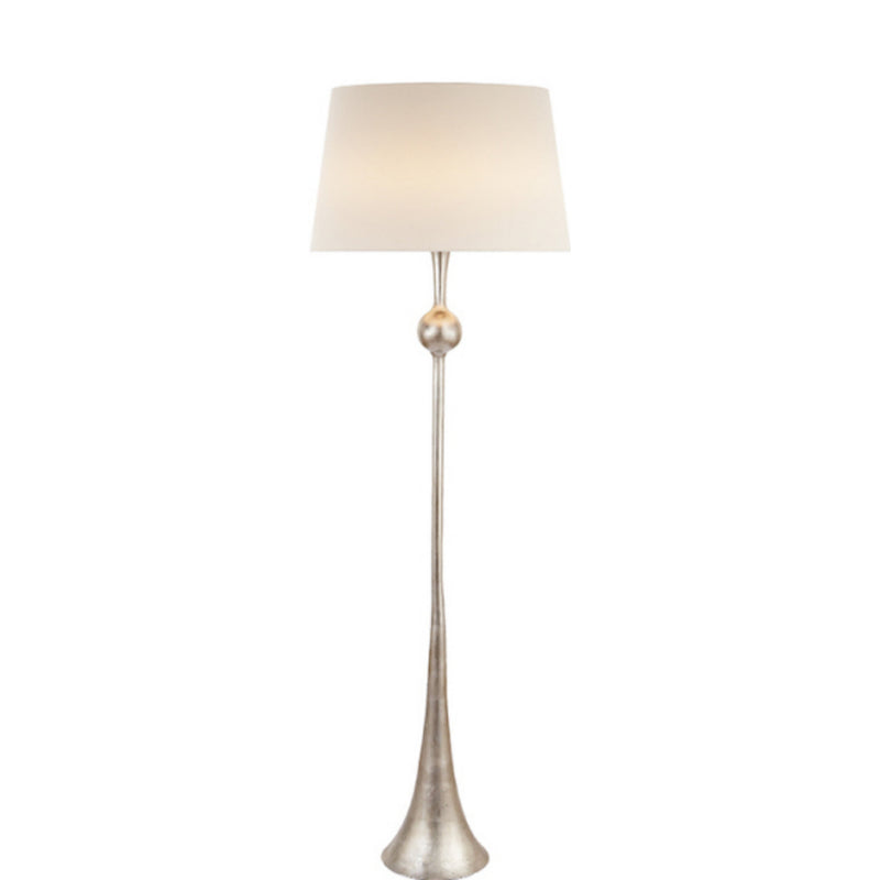 Visual Comfort ARN 1002BSL-L AERIN Dover Floor Lamp in Burnished Silver Leaf