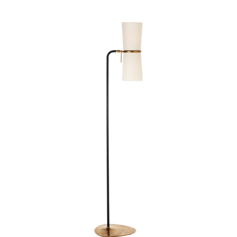 Visual Comfort ARN 1003BLK-L AERIN Clarkson Floor Lamp in Black and Brass