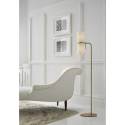 Visual Comfort ARN 1003HAB-L AERIN Clarkson Floor Lamp in Hand-Rubbed Antique Brass