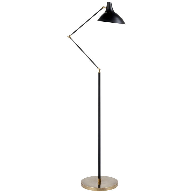 Visual Comfort ARN 1006BLK AERIN Charlton Floor Lamp in Black and Brass
