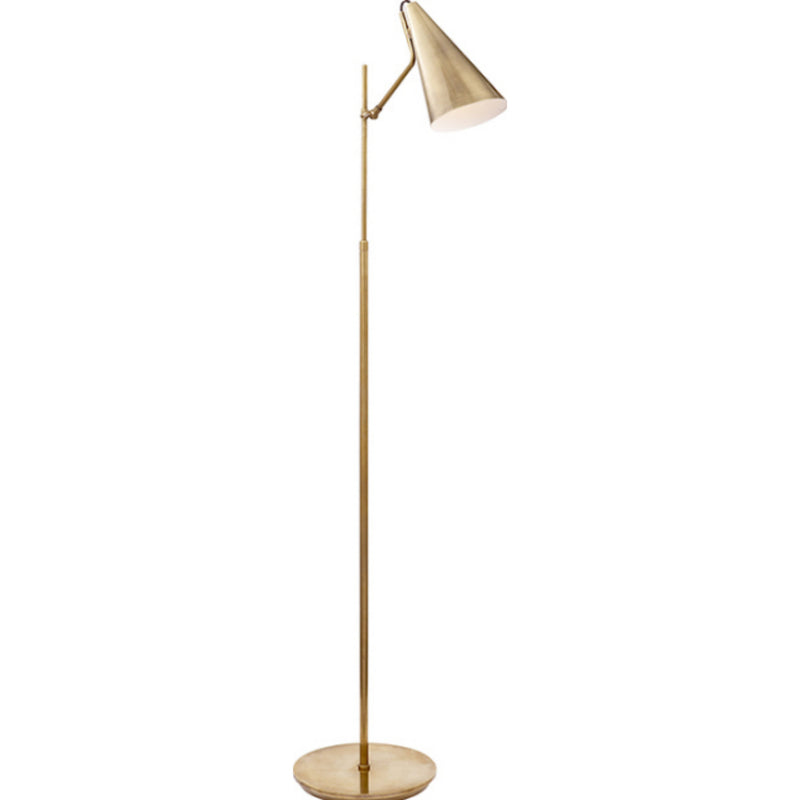Visual Comfort ARN 1010HAB-HAB AERIN Clemente Floor Lamp in Hand-Rubbed Antique Brass