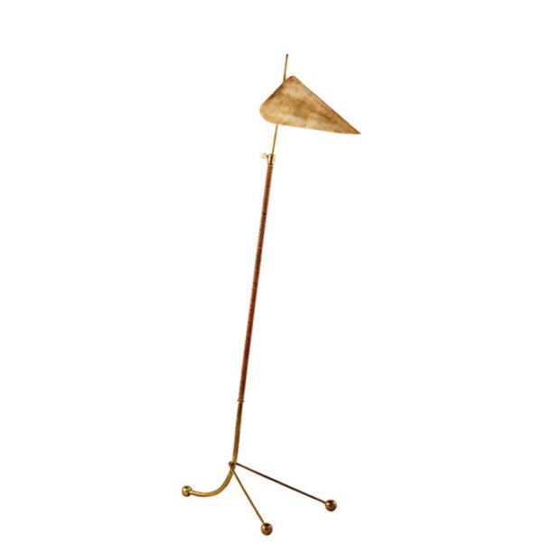 Visual Comfort ARN 1014HAB-HAB AERIN Moresby Floor Lamp in Hand-Rubbed Antique Brass
