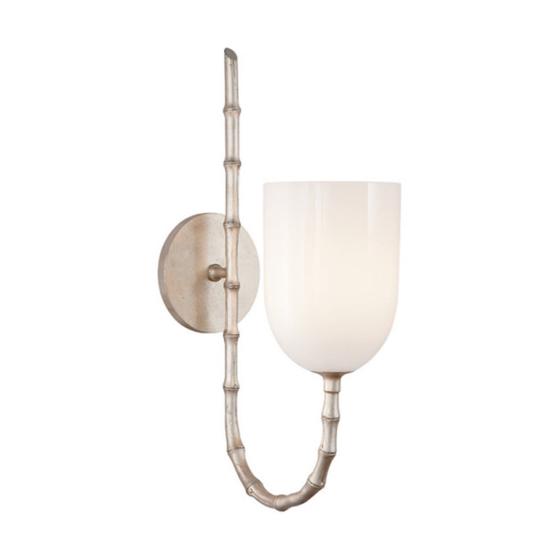 Visual Comfort ARN 2000BSL-WG AERIN Edgemere Wall Light in Burnished Silver Leaf
