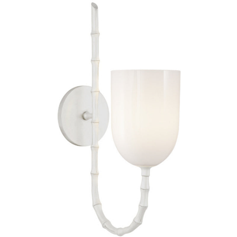 Visual Comfort ARN 2000PW-WG AERIN Edgemere Wall Light in Plaster White