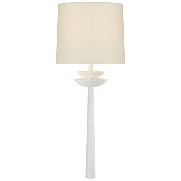 Visual Comfort ARN 2301WHT-L AERIN Beaumont Medium Tail Sconce in Matte White