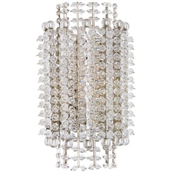Visual Comfort ARN 2461PN-CG AERIN Serafina Small Tiered Sconce in Polished Nickel